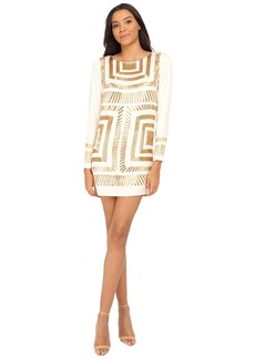 Mara Hoffman Long Sleeve Embellished Mini Dress