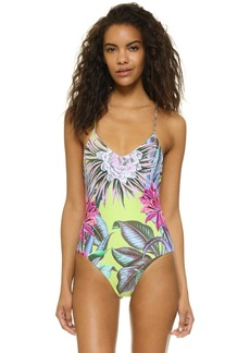 Mara Hoffman Maillot Lace Up Back One Piece