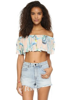 Mara Hoffman Off The Shoulder Crop Top