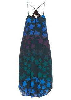 Mara Hoffman Star-print crepe midi dress