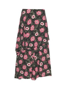 Marni Asticon-print high-waisted midi skirt