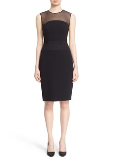 Max Mara 'Aida' Illusion Yoke Cady Cocktail Dress