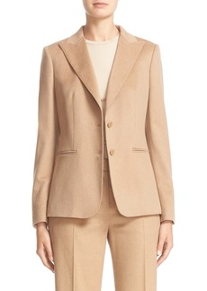 Max Mara 'Chopin' Two Button Camel Hair Blazer