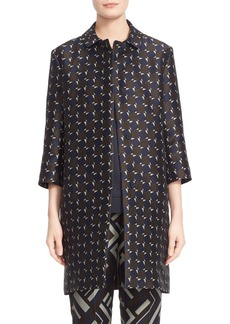Max Mara 'Getto' Geometric Jacquard Coat