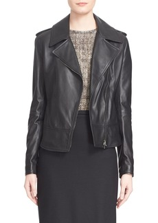 Max Mara 'Ginepro' Lambskin Leather Jacket