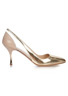 Max Mara Marzo metallic-leather pumps