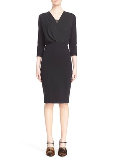 Max Mara 'Sauna' Pleat Front Jersey Dress