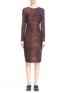 Max Mara 'Varna' Jacquard Sheath Dress