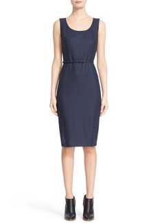 Max Mara 'Vodka' Sleeveless Wool Foulé Sheath Dress
