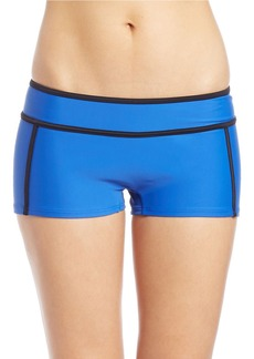 MICHAEL MICHAEL KORS Colorblocked Scuba Boy Short Bikini Bottom