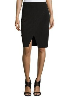MICHAEL Michael Kors Asymmetric Flap Pencil Skirt