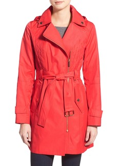 MICHAEL Michael Kors Asymmetrical Hooded Trench Coat