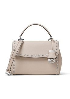 MICHAEL MICHAEL KORS Ava Studded Small Saffiano Leather Satchel
