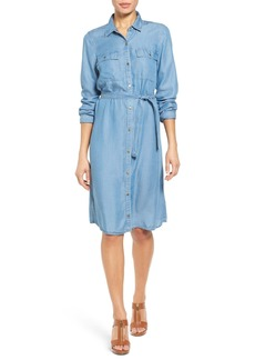 MICHAEL Michael Kors Belted Chambray Shirtdress (Regular & Petite)