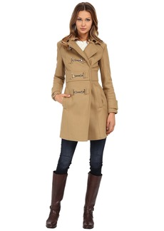 MICHAEL Michael Kors Buckle Front Coat