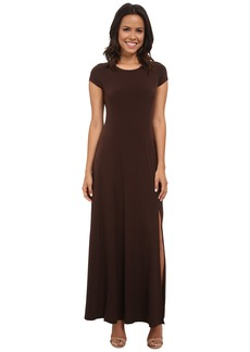 MICHAEL Michael Kors Cap Sleeve Slit Maxi Dress