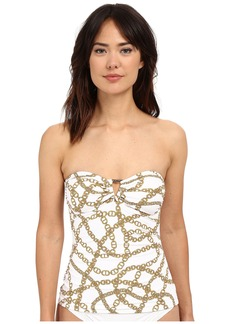 MICHAEL Michael Kors Chain Shirred Bandini Top