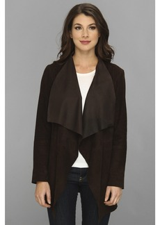 MICHAEL Michael Kors Draped Open Suede Jacket