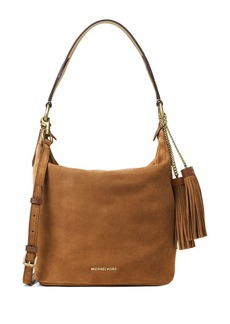 MICHAEL MICHAEL KORS Elana Large Convertible Suede Hobo Bag