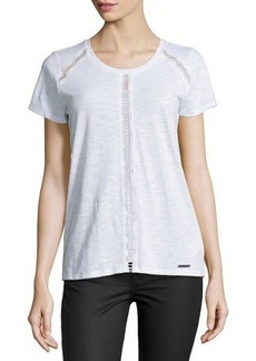 MICHAEL Michael Kors Eyelet-Panel Top