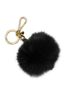 MICHAEL MICHAEL KORS Fox Fur Pompom Key Chain