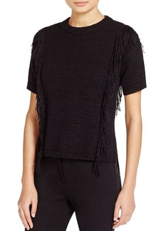 MICHAEL Michael Kors Fringed Short Sleeve Sweater