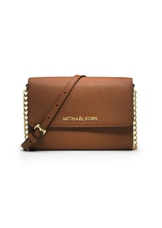MICHAEL MICHAEL KORS Jet Set Leather Large Travel Phone Crossbody