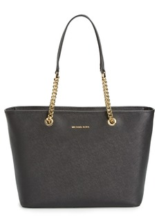 MICHAEL Michael Kors 'Jet Set Travel Chain Multifunction' Leather Tote