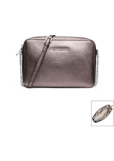 MICHAEL Michael Kors® Jet Set Travel Metallic Saffiano Leather Crossbody