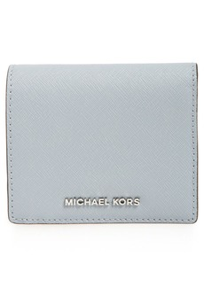 MICHAEL Michael Kors 'Jet Set Travel' Saffiano Leather Card Case
