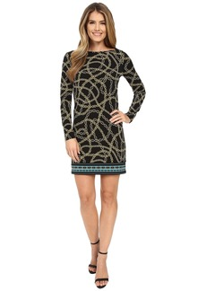 MICHAEL Michael Kors Kegan Boat Neck Border Dress