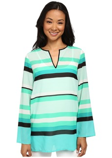 MICHAEL Michael Kors Kirkham Stripe V-Neck Top
