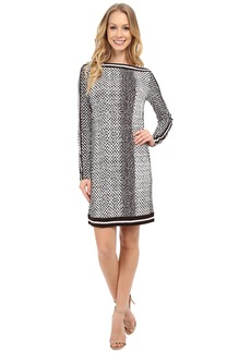 MICHAEL Michael Kors Kobe Boat Neck Border Dress