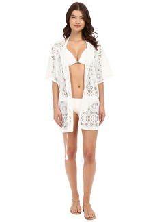 MICHAEL Michael Kors La Vie Boheme Crochet Tunic Cover-Up