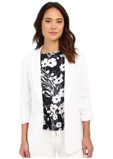 MICHAEL Michael Kors Linen Shirred Boyfriend Jacket