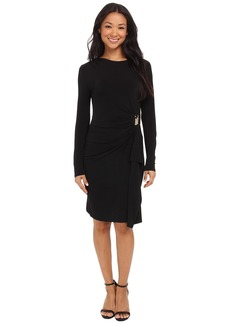 MICHAEL Michael Kors Logo Plate Trim Matter Jersey Dress
