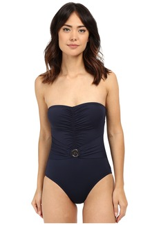 MICHAEL Michael Kors Logo Ring Bandeau Maillot One-Piece
