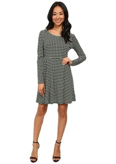 MICHAEL Michael Kors Madeleine Long Sleeve Flare Dress