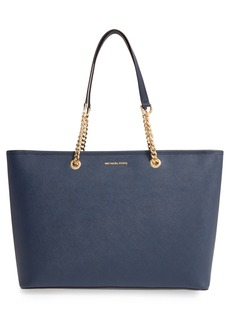 MICHAEL Michael Kors 'Medium Jet Set Chain' Saffiano Leather Tote