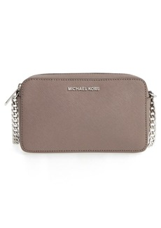 MICHAEL Michael Kors 'Medium Jet Set' Leather Crossbody Bag
