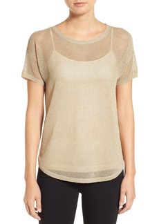 MICHAEL Michael Kors Metallic Mesh Stitch Sweater (Regular & Petite)