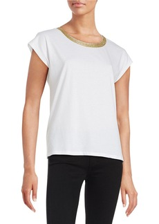 MICHAEL MICHAEL KORS Metallic-Trimmed Knit Top