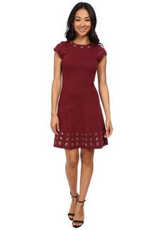 MICHAEL Michael Kors Mix Grommet Cap Sleeve Dress