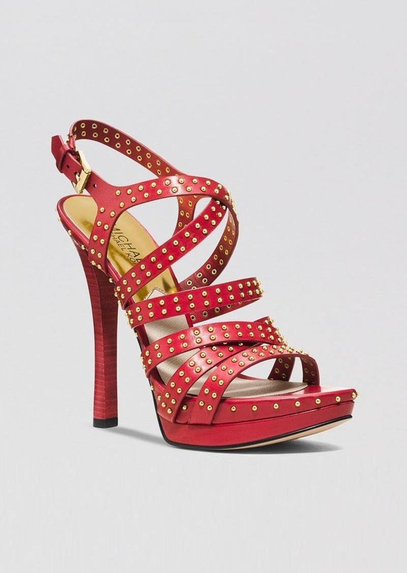MICHAEL Michael Kors Open Toe Platform Sandals - Arianna High Heel
