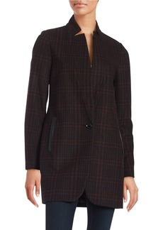 MICHAEL MICHAEL KORS Plaid Wool-Blend Coat