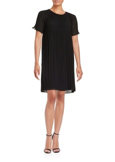 MICHAEL MICHAEL KORS Pleated Short-Sleeved Dress