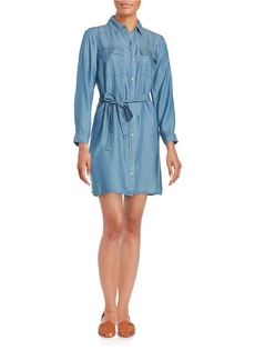MICHAEL MICHAEL KORS Light Wash Denim Shirtdress