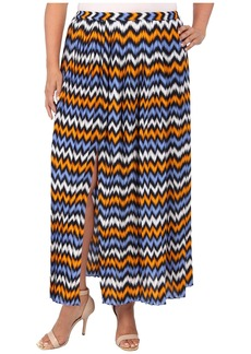 MICHAEL Michael Kors Plus Size Ikat Pleated Maxi Skirt w/ Slit