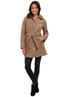 MICHAEL Michael Kors Quilt Single-Breasted Belted Trench