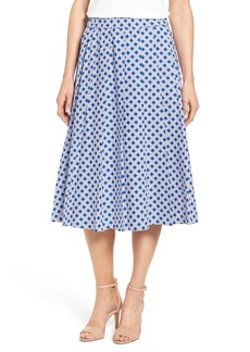 MICHAEL Michael Kors 'Reilly' Print Pleat A-Line Skirt